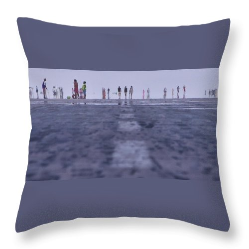 Runway Throw Pillow featuring the photograph Runway by Naoki Takyo