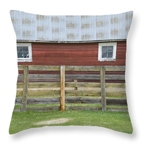 Barn Throw Pillow featuring the photograph Rural Patterns by Idaho Scenic Images Linda Lantzy