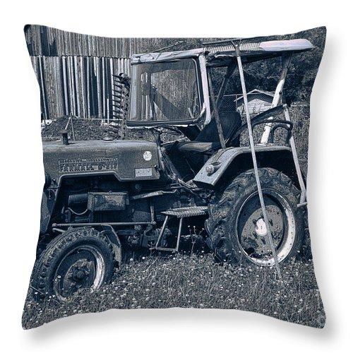 Nostalgia Throw Pillow featuring the photograph Rural Vehicle by Jutta Maria Pusl