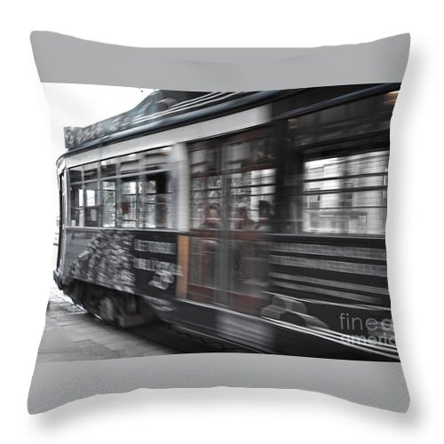 Canon Throw Pillow featuring the photograph Rush Hour by Noze P