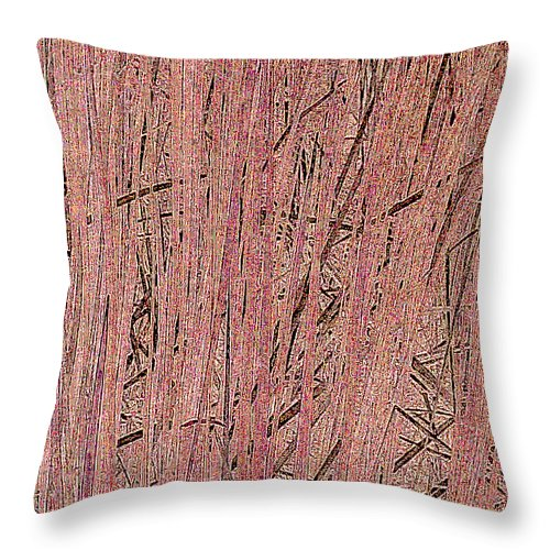 Square Throw Pillow featuring the digital art Rushes by Eikoni Images