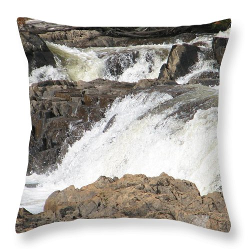 Waterfall Throw Pillow featuring the photograph Rushing by Kelly Mezzapelle