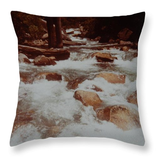 Water Throw Pillow featuring the photograph Rushing Water by Rob Hans