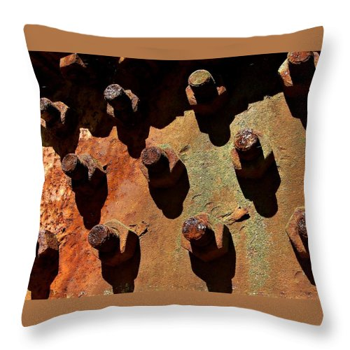 Industrial Throw Pillow featuring the photograph Rust by Brad Lindsey