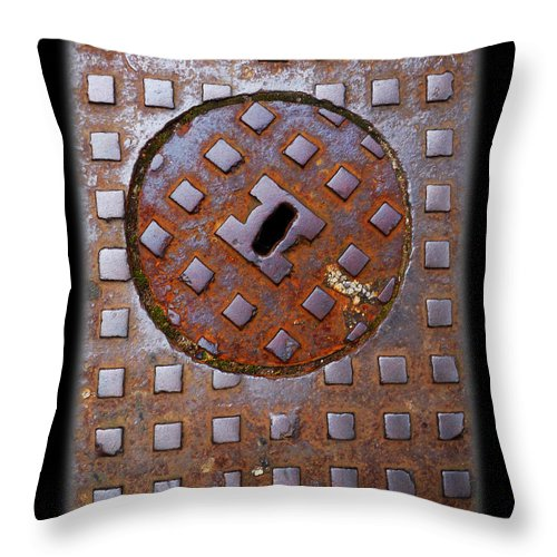 Heavy Metal Throw Pillow featuring the photograph Rust Never Sleeps by Charles Stuart