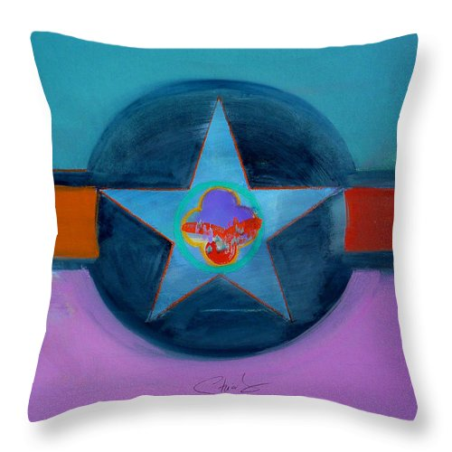 Star Throw Pillow featuring the painting Rust Or Bust by Charles Stuart