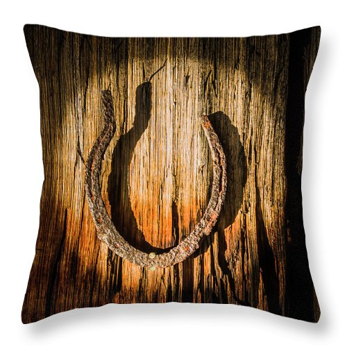 Symbol Throw Pillow featuring the photograph Rustic Country Charm by Jorgo Photography - Wall Art Gallery