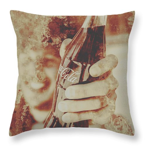 Diner Throw Pillow featuring the photograph Rustic Drinks Advertising by Jorgo Photography - Wall Art Gallery