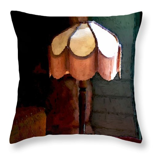 Antiques Throw Pillow featuring the painting Rustic Elegance by RC DeWinter