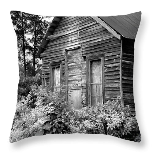 Barn Throw Pillow featuring the photograph Rustic Homestead - Antique Home Barn Country Rural by Jon Holiday