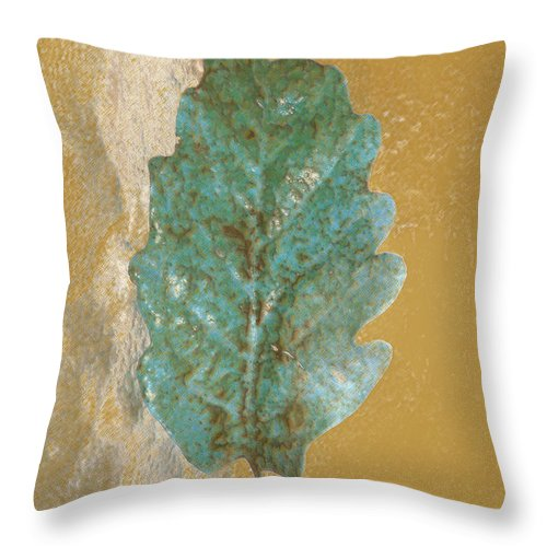 Leaves Throw Pillow featuring the photograph Rustic Leaf by Linda Sannuti