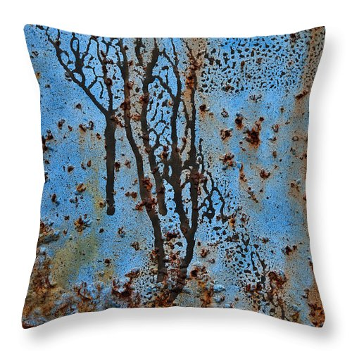 Rust Throw Pillow featuring the photograph Rustscape by Murray Bloom