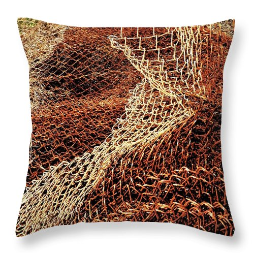 Rust Throw Pillow featuring the photograph Rusty Chain Link by Francesa Miller