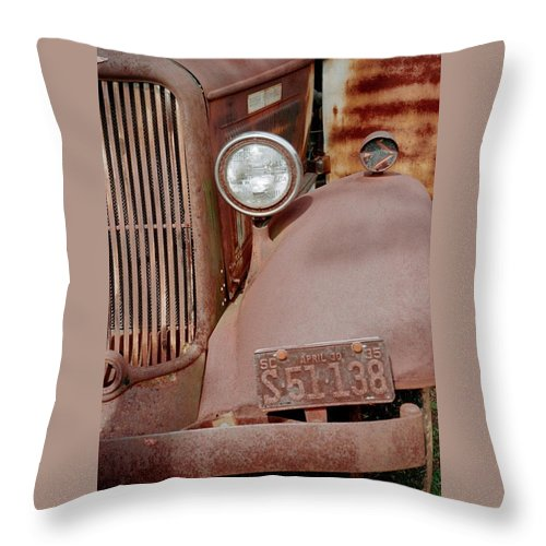 Car Throw Pillow featuring the photograph Rusty by Flavia Westerwelle