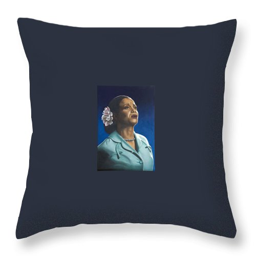Portrait Throw Pillow featuring the painting Ruth Jacott by Rob De Vries