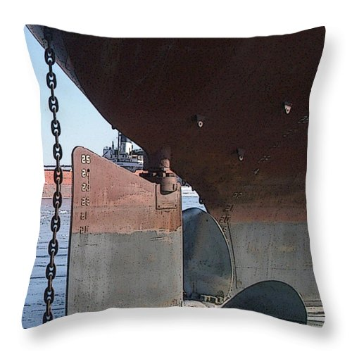 Prop Throw Pillow featuring the photograph Ryerson Prop by Tim Nyberg