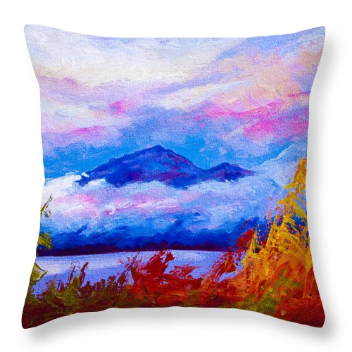 Alaska Throw Pillow featuring the painting Rythmn Of The Arctic by Marion Rose