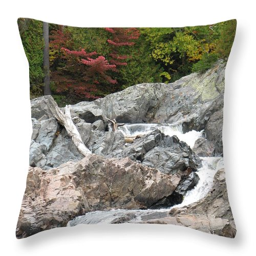 River Throw Pillow featuring the photograph S Curve by Kelly Mezzapelle