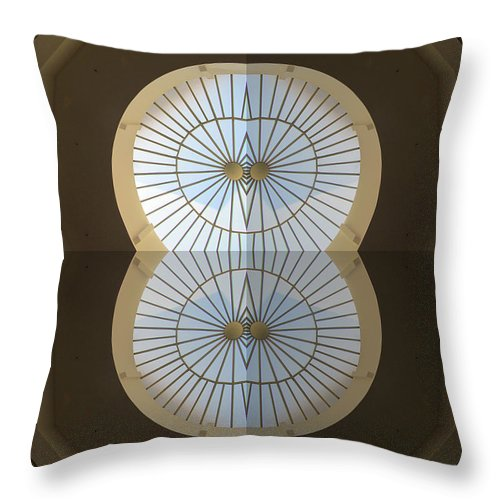 San Francisco Throw Pillow featuring the photograph S F Neiman Marcus Seven by Tina M Wenger