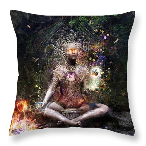 Cameron Gray Throw Pillow featuring the digital art Sacrament For The Sacred Dreamers by Cameron Gray