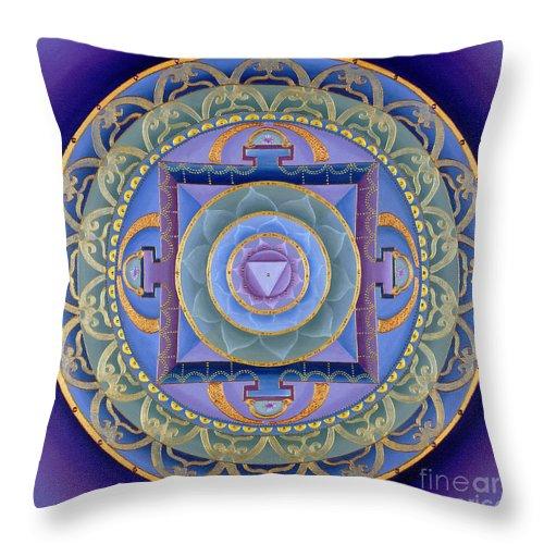 Mandala Throw Pillow featuring the painting Sacred Feminine by Charlotte Backman