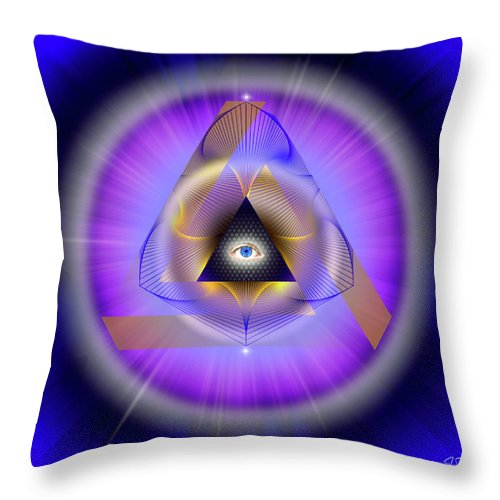 Endre Throw Pillow featuring the photograph Sacred Geometry 642 by Endre Balogh