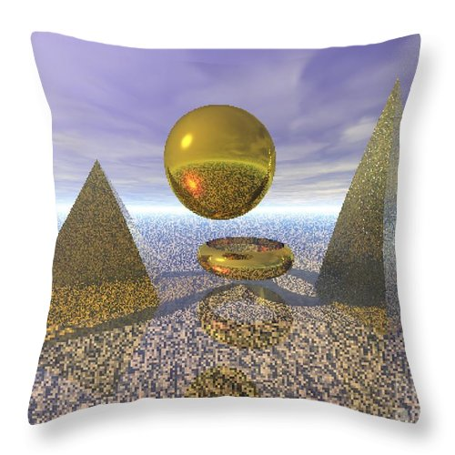 Meditation Throw Pillow featuring the digital art Sacred Geometry by Oscar Basurto Carbonell
