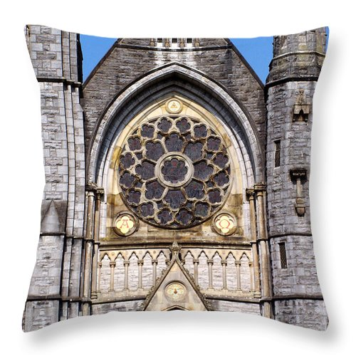Ireland Throw Pillow featuring the photograph Sacred Heart Church Detail Roscommon Ireland by Teresa Mucha