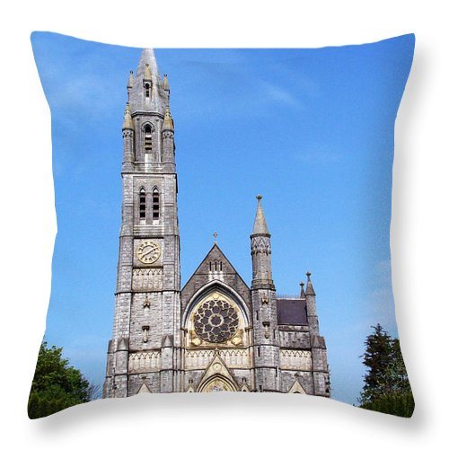 Ireland Throw Pillow featuring the photograph Sacred Heart Church Roscommon Ireland by Teresa Mucha