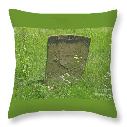 Tombstone Throw Pillow featuring the photograph Sacred Memory by Ann Horn