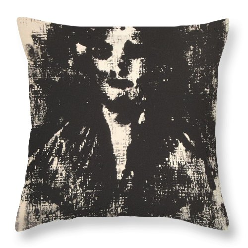 Drawing Throw Pillow featuring the drawing Sad Feelings by Natalie Holland