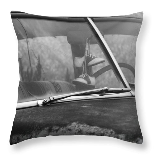 Saddle Shoes Throw Pillow featuring the photograph Saddle Shoes by Rusty Glessner
