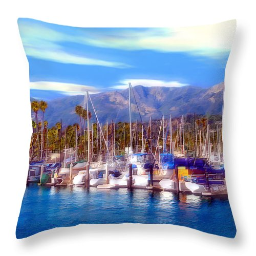 Charbor Throw Pillow featuring the photograph Safe Haven by Kurt Van Wagner