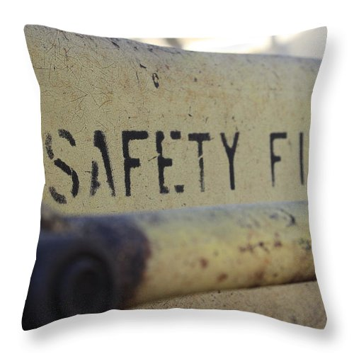 Safety Throw Pillow featuring the photograph Safety First by Wade Milne