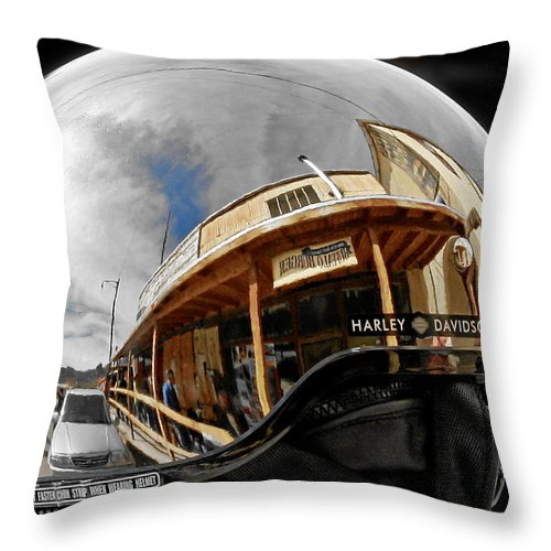 Harley Throw Pillow featuring the photograph Safety Is Sexy by Christine Till