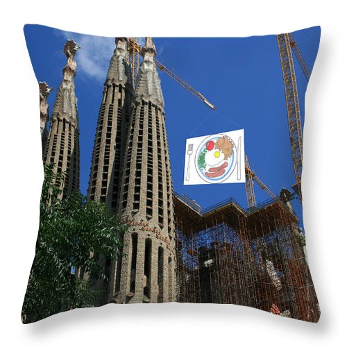 Sagreda Throw Pillow featuring the photograph Sagreda Project by Andy Mercer