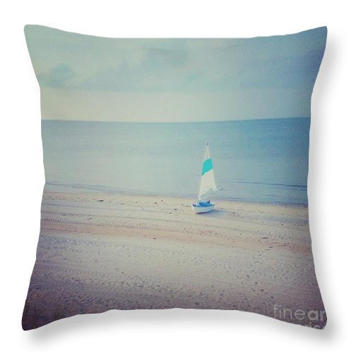 Sailboat Throw Pillow featuring the photograph Sail Away With Me by Heather Taylor