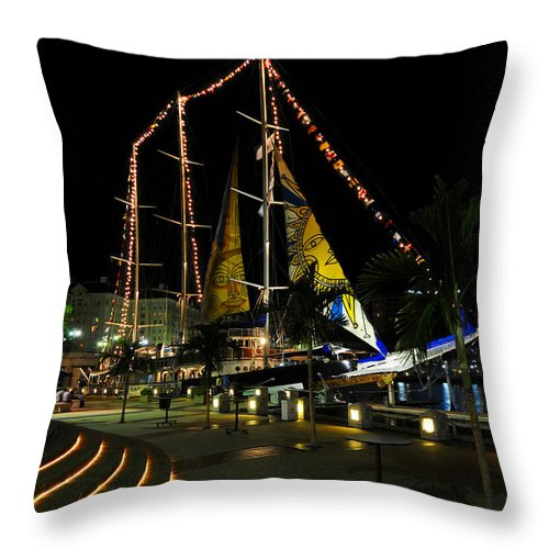 Sail Tampa Bay 2010 Throw Pillow featuring the photograph Sail Tampa Bay 2010 by David Lee Thompson