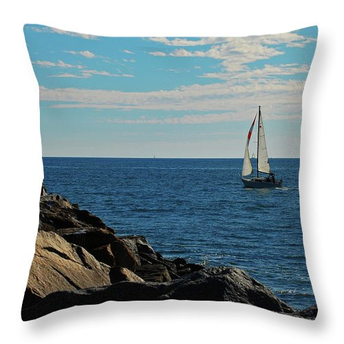 Sail Throw Pillow featuring the photograph Sail View by Jean Booth