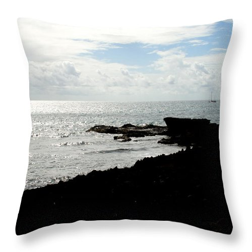 Sailboat Throw Pillow featuring the photograph Sailboat At Point by Jean Macaluso