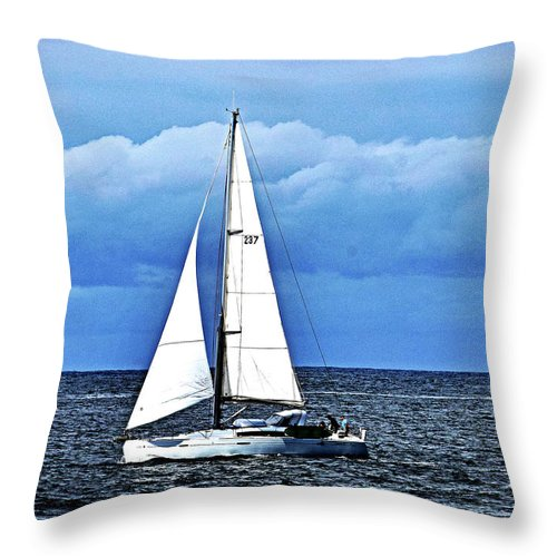 Sailboat Throw Pillow featuring the photograph Sailboat No. 143-1 by Sandy Taylor