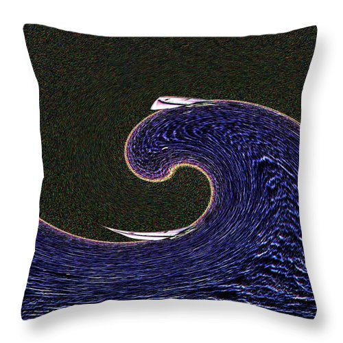 Sail Throw Pillow featuring the digital art Sailin The Wave by Tim Allen