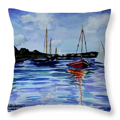 Sailing Throw Pillow featuring the painting Sailing Day by Elizabeth Robinette Tyndall