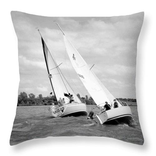Sailing Throw Pillow featuring the photograph Sailing by Deb Buchanan