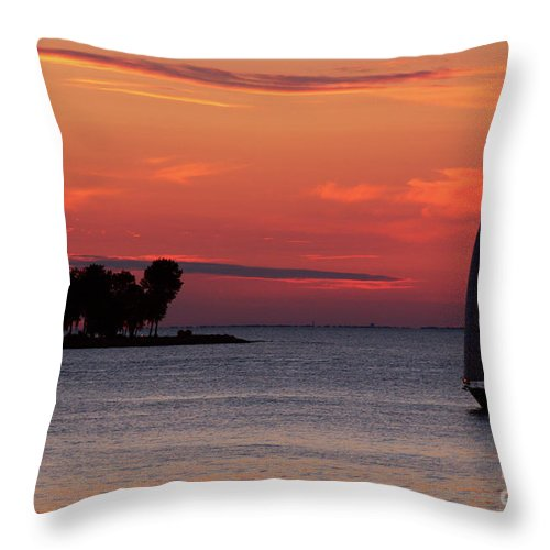 Sailing Throw Pillow featuring the photograph Sailing Home by Joel Witmeyer
