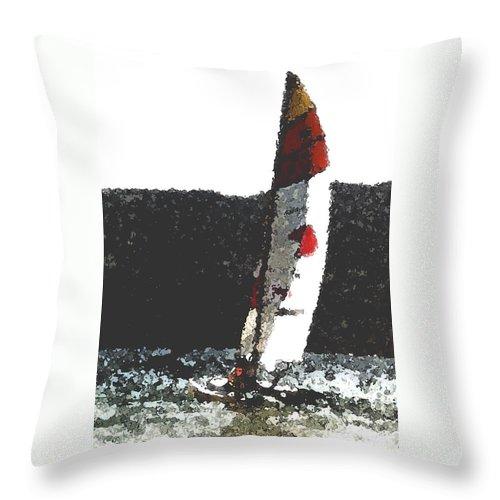 Sailing Throw Pillow featuring the photograph Sailing In Acapulca by Wayne Potrafka