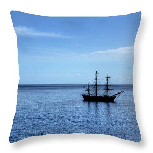 Ship Throw Pillow featuring the photograph Sailing Ship by Alan Pickersgill