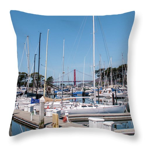 San Francisco Throw Pillow featuring the photograph Sailing To The Golden Gate by Andrew Hollen