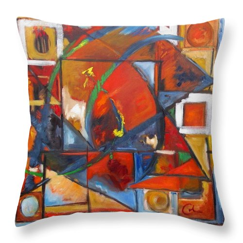 Sails Throw Pillow featuring the painting Sails by Gary Coleman