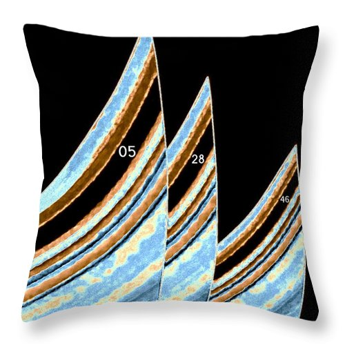 Sails Throw Pillow featuring the digital art Sails by Will Borden